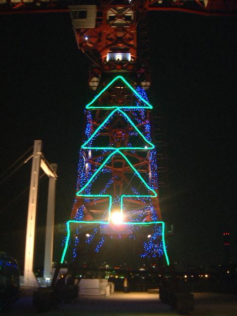 豊洲モニュメントクレーン・クリスマス