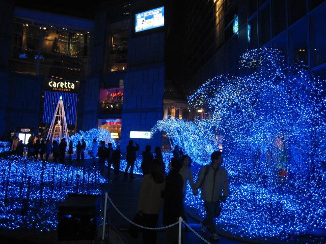 カレッタ汐留 海のクリスマスイルミネーション