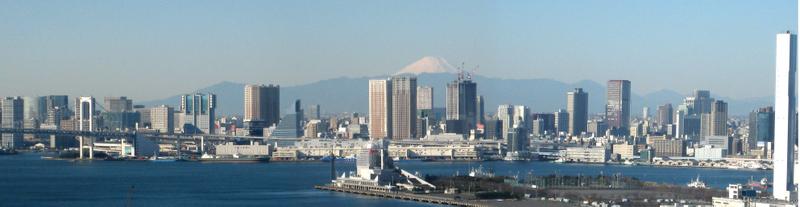 豊洲 パノラマ写真 富士山