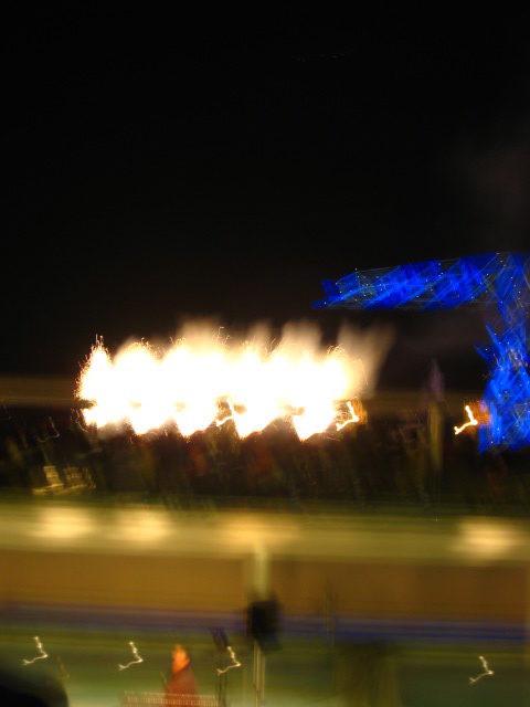クリスマスイブ ライブの花火