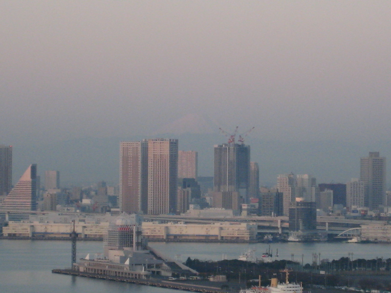 2007元旦・豊洲からの富士山
