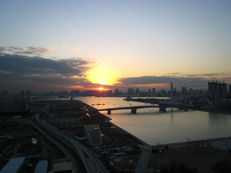 夕日の豊洲
