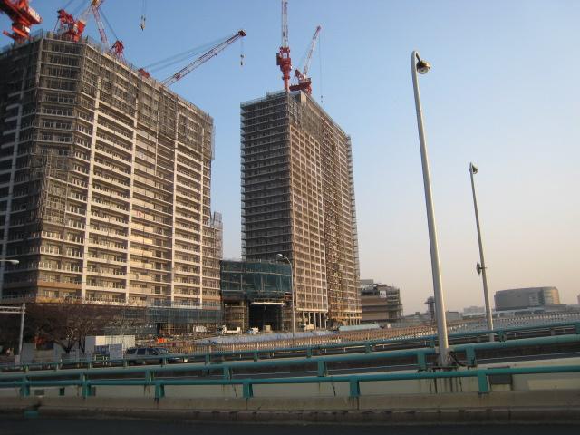 建設中のパークシティ豊洲