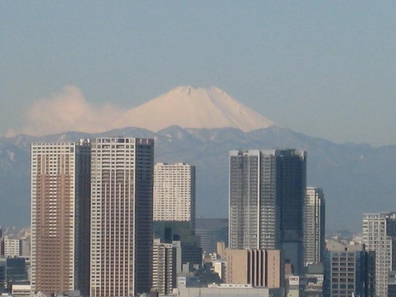 豊洲から富士山