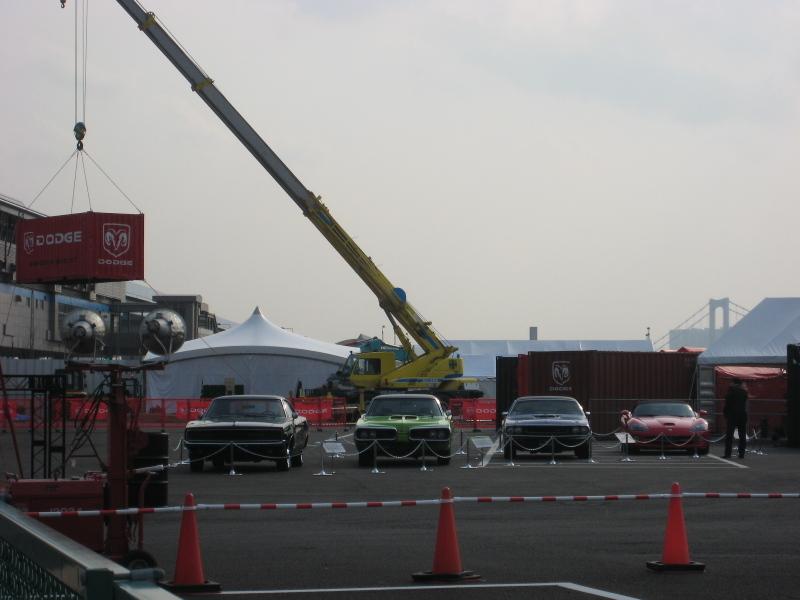 アメリカ車と護衛艦