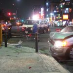 豊洲の交差点で事故