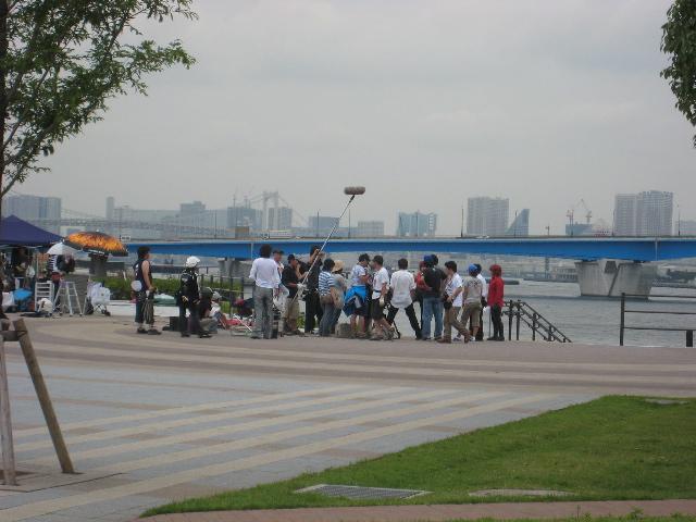 豊洲公園で撮影