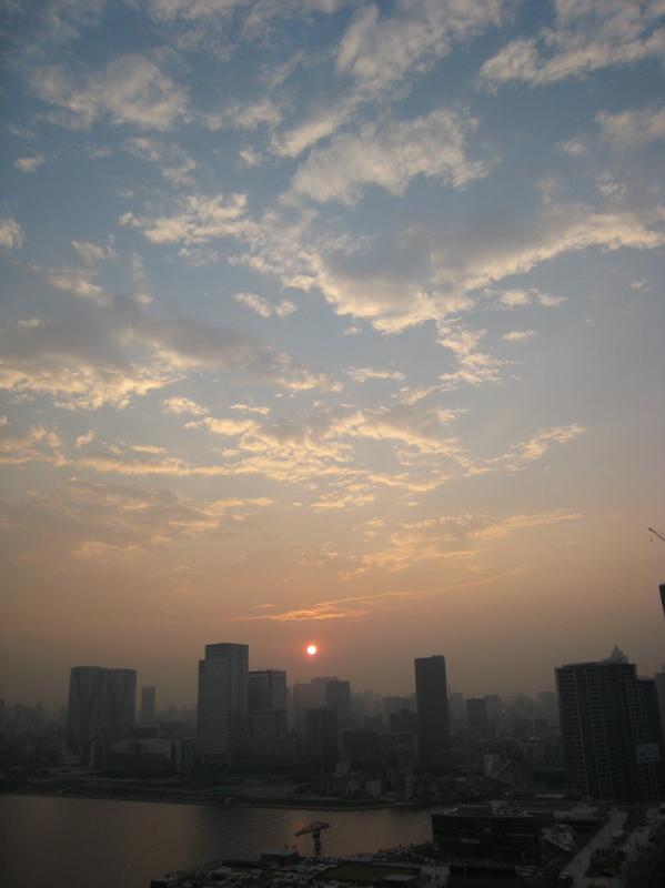 豊洲の黄昏