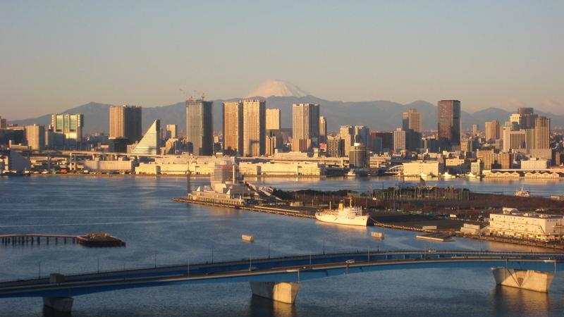 豊洲・元旦の富士山