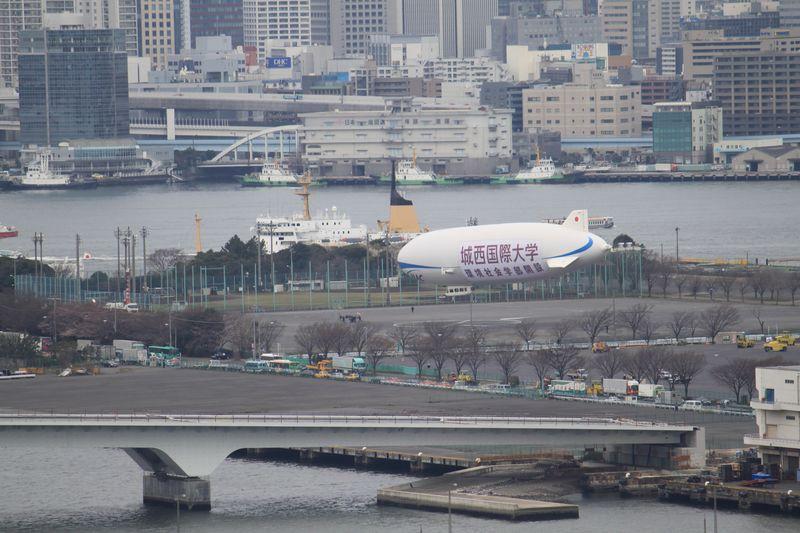 飛行船 東京晴海就航