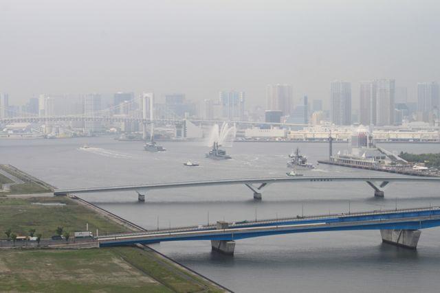晴海埠頭、自衛隊練習艦