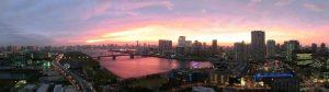 2011年10月19日、豊洲の夕日
