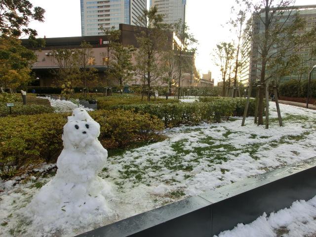 積雪の豊洲