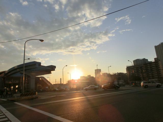 豊洲・雨上がりの黄昏