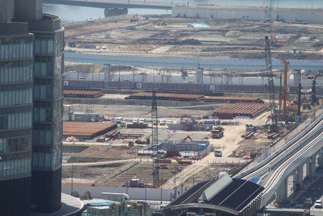 築地が移転する豊洲新市場の工事状況 2012年3月