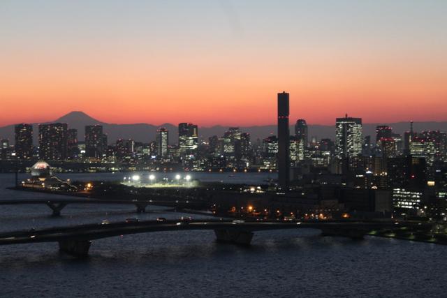 豊洲からの富士山