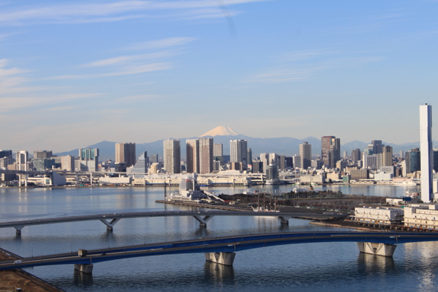 豊洲から見た元旦の富士山