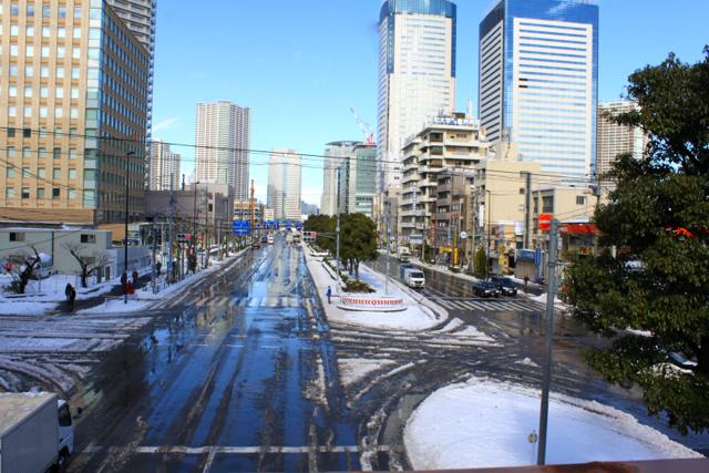 豊洲の雪景色