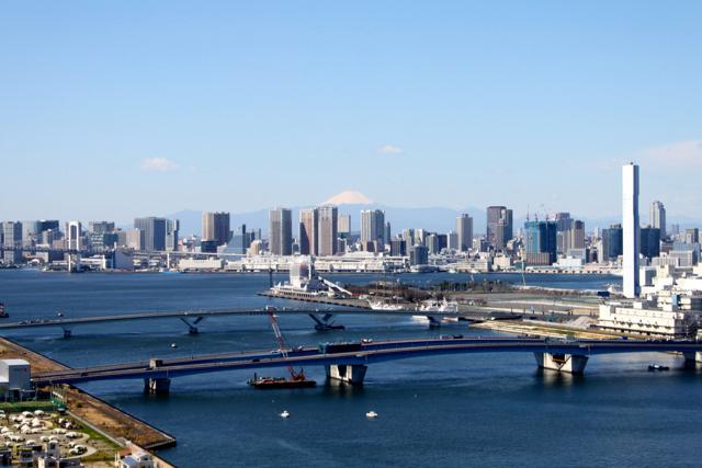 豊洲と富士山
