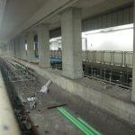 豊洲駅のホームが合体