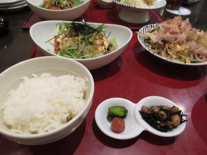 宮崎のニガウリの卵炒めと佐賀とろ豆富とおジャコのヘルシーサラダ