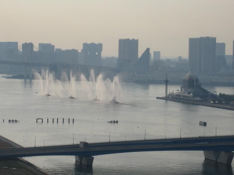 晴海桟橋 消防船