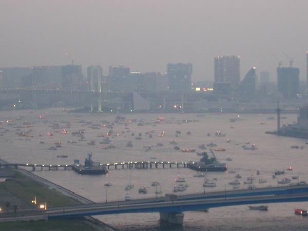 第20回東京湾大華火祭 開始前の東京湾