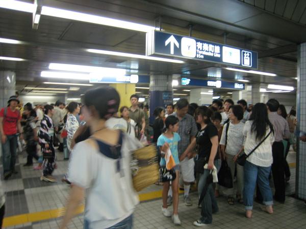 豊洲駅 混雑