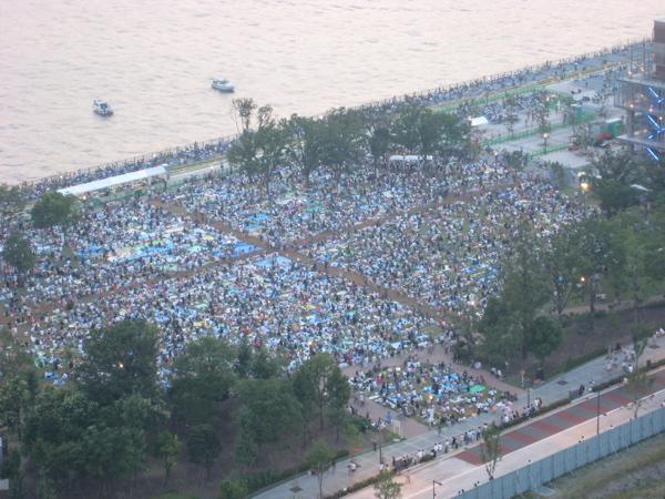 第20回東京湾大華火祭 豊洲公園 混雑