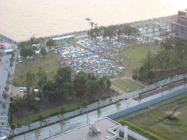 第20回東京湾大華火祭 豊洲公園混雑状況