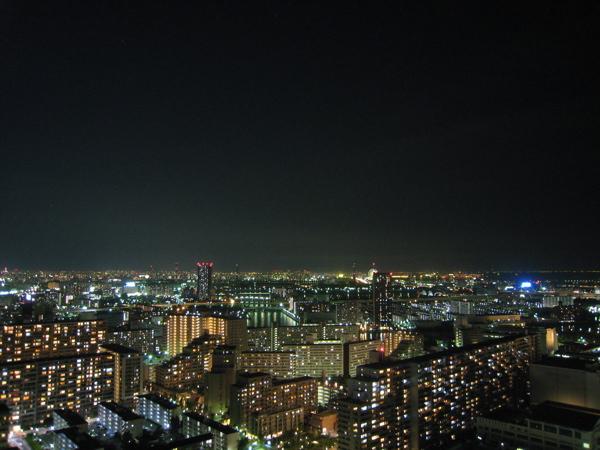 豊洲四丁目方面の夜景