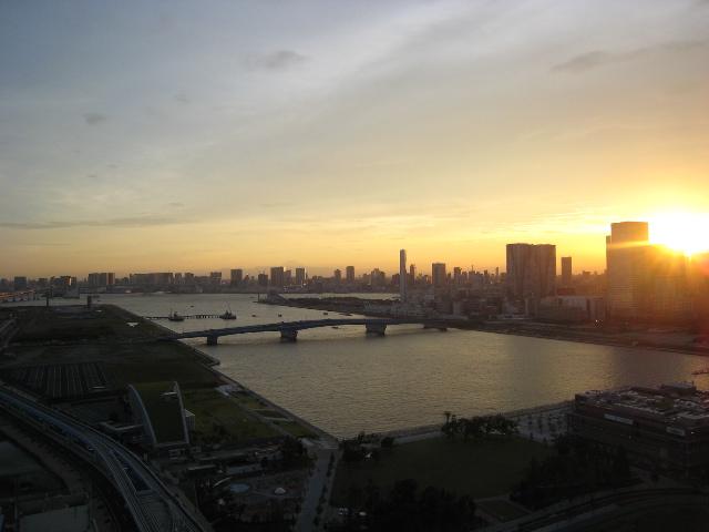 豊洲 夕日