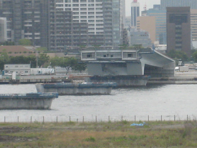 豊洲大橋 建設中