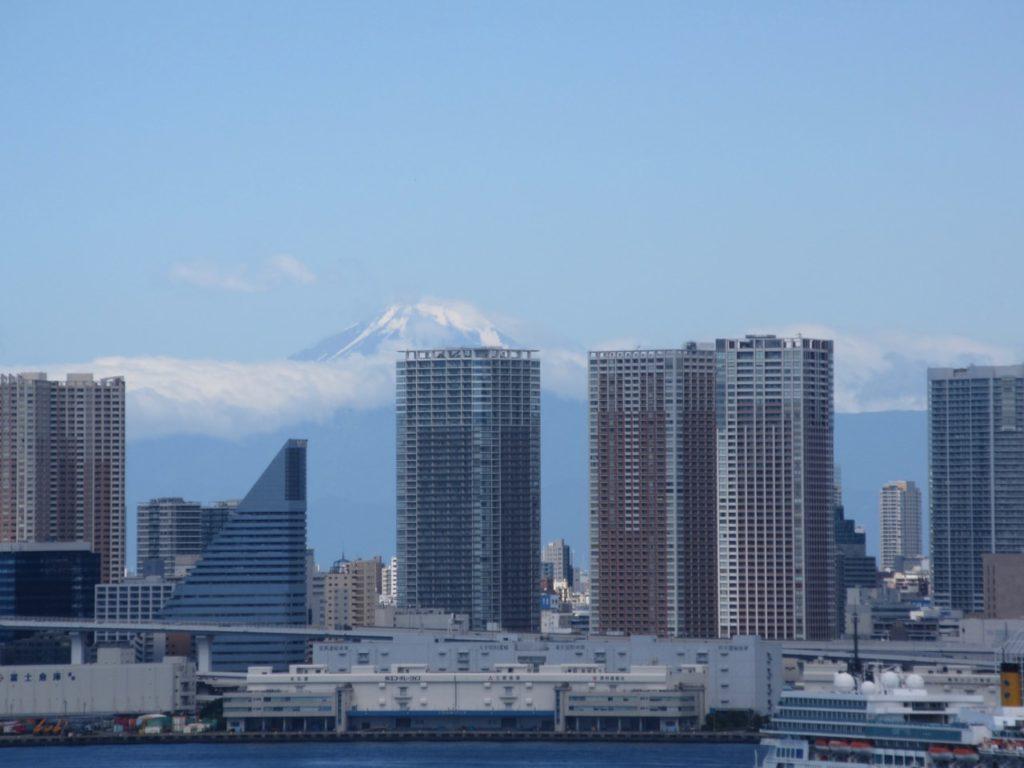 豊洲から見た富士山