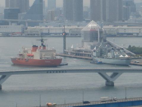 南極観測船 新しらせ寄港