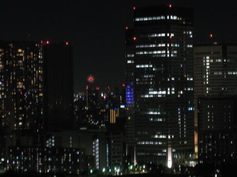 ベランダから隅田川花火大会(の雰囲気を)観覧