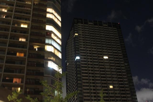 シティタワーズ豊洲 ザ・シンボルに灯りが・・