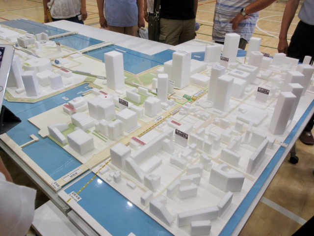 豊洲五丁目・六丁目「地域防災訓練」豊洲立体模型