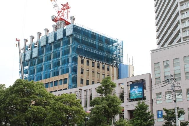 2011年7月の豊洲の工事状況