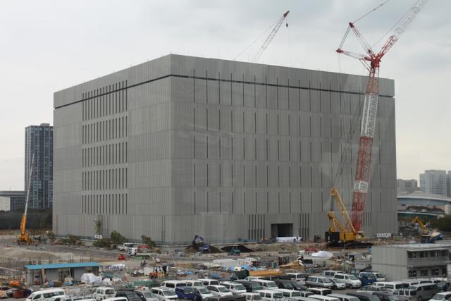 2012年1月の豊洲の工事状況