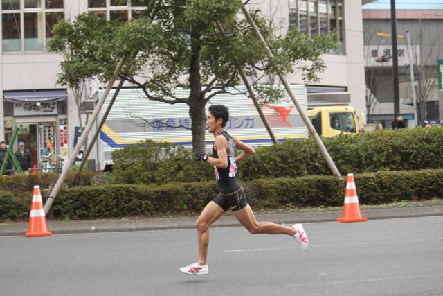 藤原 新選手 東京マラソン 2012 in 豊洲