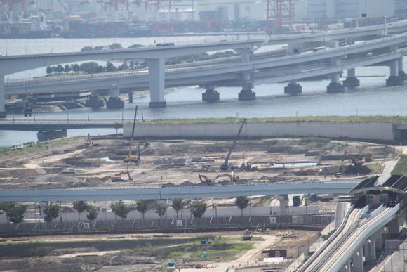 2012年7月の豊洲の工事状況