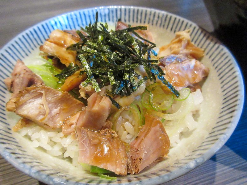 「麺処 豊洲屋」ネギチャーシュー丼