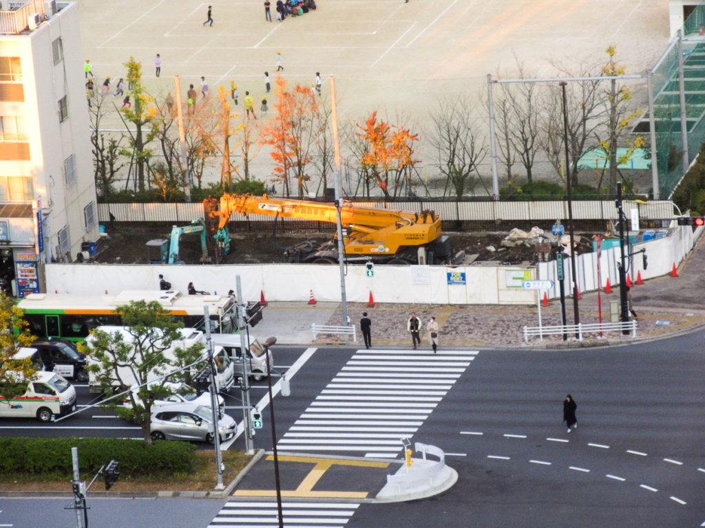 豊洲4丁目のGS跡地は6階建ての事務所・店舗ビルが建設