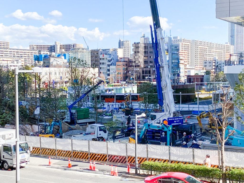 豊洲ベイサイドクロス工事状況(2020年3月5日)