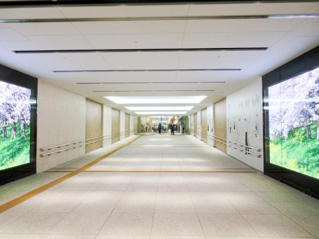 豊洲駅から豊洲ベイサイドクロスへの通路